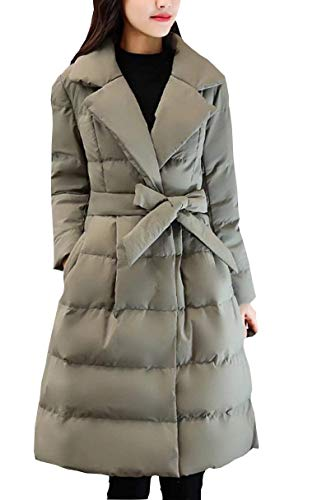 Solid Pockets Jacket Lapel Down Coats Rosa Style Long Long Fashion with Side Women Belt Coat Special Warm Parka Trench Sleeve Color Winter n0ZdTqSwZ