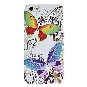 JOE Rhinestone Design Butterfly Pattern Hard Case for iPhone 5/5S