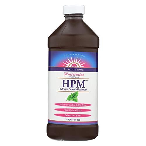 Heritage Store Hydrogen Peroxide Mouthwash Wintermint 16 oz