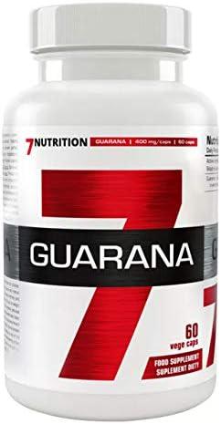 7 Nutrition Guarana 1er pack x 60 Kapseln – Koffein aus Paullinia Cupana