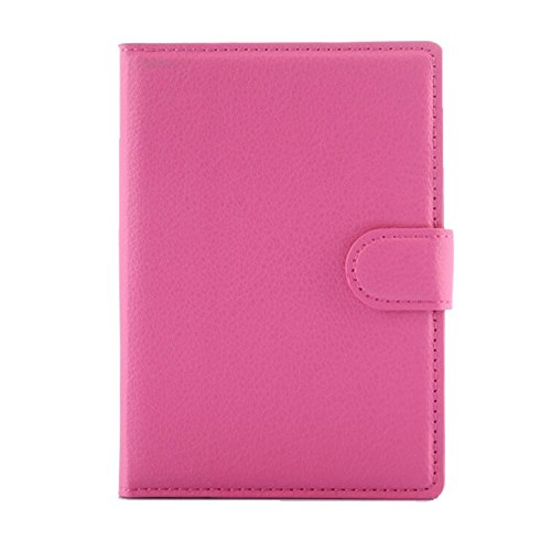Wallet Case for BlackBerry Passport, Turpro PU Leather Folio Flip Cover Wallet Case with Stand and Card Holder for BlackBerry Passport Q30 (Not compatible with the BlackBerry Passport at AT&T) (Hot Pink)