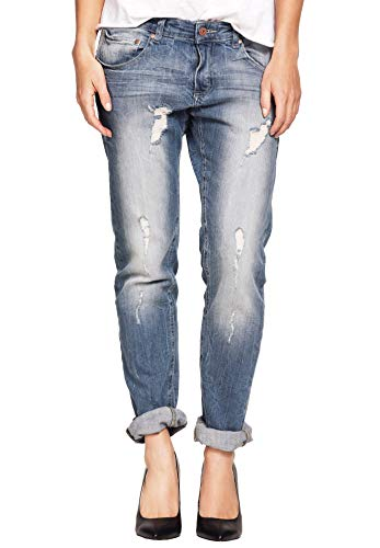 Ellos Women's Plus Size Boyfriend Jeans Distressed,26 -
