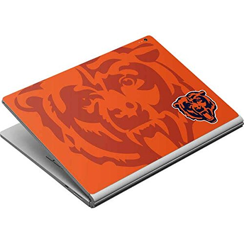 Skinit Chicago Bears Double Vision Surface Book Skin - Officially Licensed NFL Laptop Decal - Ultra Thin, Lightweight Vinyl Decal Protection