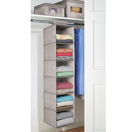 mdesign-fabric-hanging-closet-storage-organizer-for-clothing-sweaters-shoes-accessories-6-shelves-linen