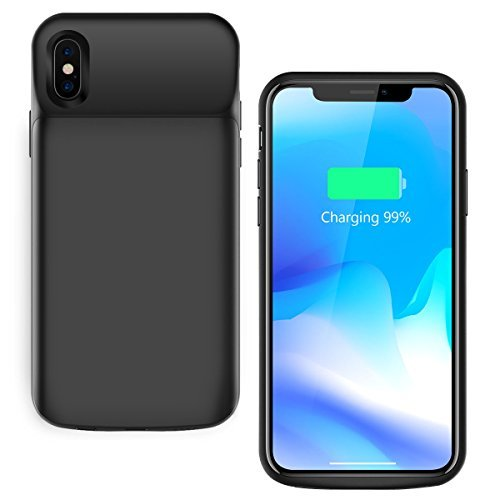 IPhone X Battery Case 3600mah, Vapesoon Ultra Slim iPhone X Portable Rechargeable Charging Case Extended Battery Protective Case Power Juice Pack For iPhone X 5.8 inch - Black