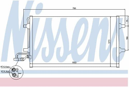 Klimaanlage Nissens 940086 Kondensator