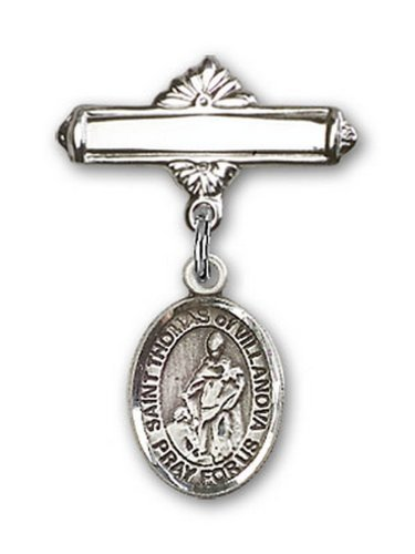 Icecarats Créatrice De Bijoux En Argent Sterling St. Thomas De Charme Villanova Broche De Badge 1 X 5/8