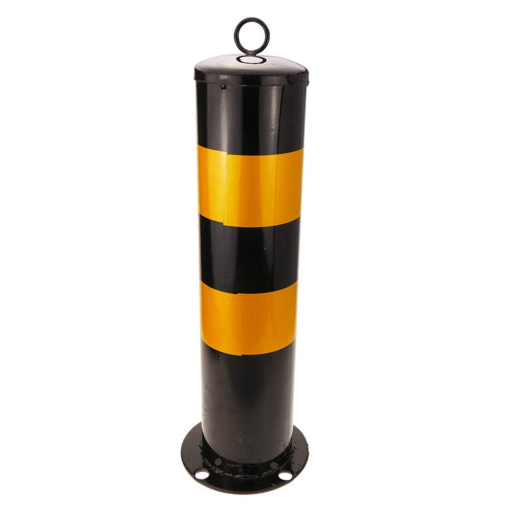Cablematic - Pilona bolardo de acero con base clavada 114x500mm Cablematic.com PN25041618200128559