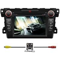 BlueLotus® In-dash 7 Touchscreen Car DVD GPS Navigation for Mazda Cx-7 2007 2008 2009 2010 2011 2012 w/ Tv Radio Bluetooth Steering Wheel Control RDS + Av + Rear View Camera + Free USA Map
