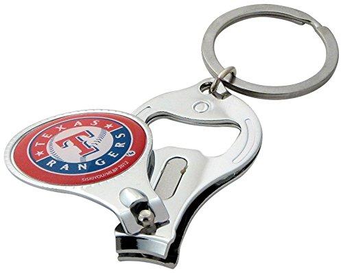 - Siskiyou MLB Texas Rangers Nail Care/Bottle Opener Key Chain