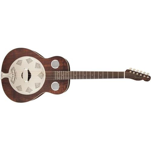 Fender Acoustic Guitars Folk Music Instruments 955006092 Derby Reso-Phonic Guitar, Brown by Fender