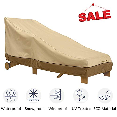 kdgarden Patio Chaise Lounge Cover, Heavy Duty Waterproof 600D Outdoor Lounge Chair Cover for All Weather Protection, Large Chaise Lounge Sofa Cover 79
