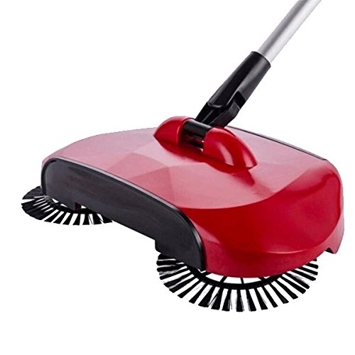 KORCCI Sweeper Broom, As Seen on TV, Lightweight Powerless Sweeper with Attached Dustpan for Wood, Tile, Laminate Concrete, 1 Sweeper, Random Color