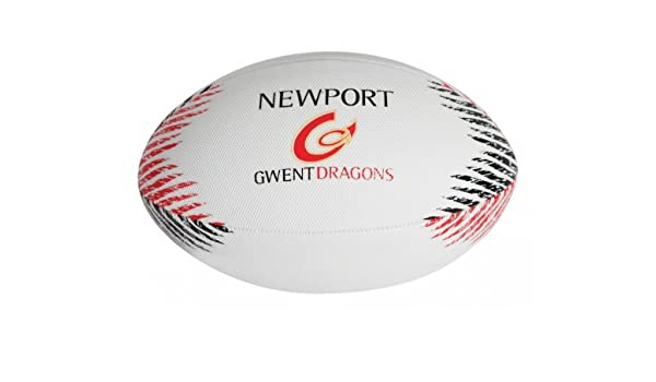 GILBERT Newport Gwent Dragons Réplica Balón de Rugby Playa: Amazon ...
