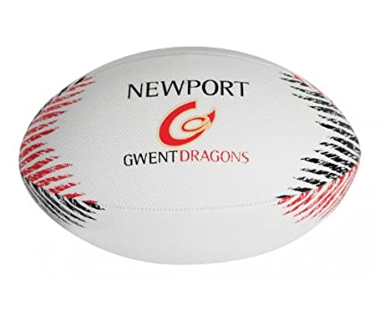 GILBERT Newport Gwent Dragons Réplica Balón de Rugby Playa: Amazon ...