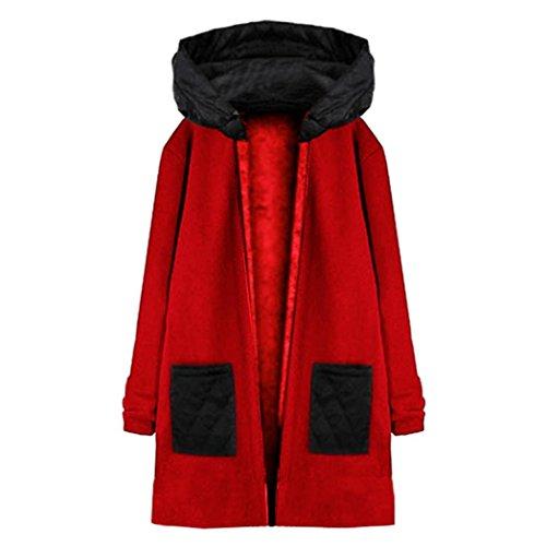 Internet manga capucha Escudo con Top Rojo Abrigo mujer abrigo de para cortavientos Outwear larga Chaqueta YnqYAZw5Ix