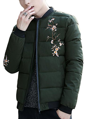 Winter Outdoors Generic Green Casual Jacket Army Mens Coat Quilted Warm Down xUqS5PqI