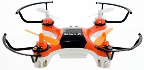 Black Radio Controlled Helicopter (4DCopter Fly it , Love it! - X-Drone Nano 2.0 Aerial Drone Quadcopter Radio Controlled RC Flyer Quad Copter Helicopter - Size: Nano (2in x 2in x1in), Orange)