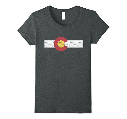 Womens Colorado State Flag T Shirt Patriotic Colorado Day Gift Large Dark Heather
