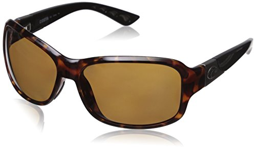 Costa Del Mar Inlet Sunglasses, Retro Tortoise With Black Temples/Copper 580 Plastic Lens (Plastic Temples)