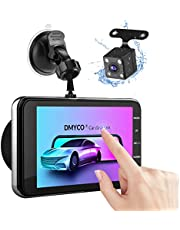 """Dual Dash Cam, 1080P Full HD Touch Screen Car Camera Front and Rear 4"""" Car DVR Dashboard Camera Video Recorder with Night Vision, Motion Detection, Parking Monitoring, G-Sensor, Loop Recording"""