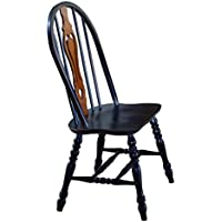 Sunset Trading Keyhole Dining Chair, Set of 2, 41, Antique Black