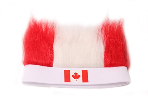 Dantiya Men's Sports Football Soccer Fan Wig 32 Countries (Canada)