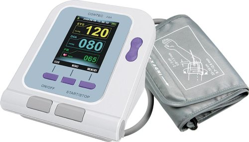 Contec08A Digital Upper Arm Blood Pressure Monitor, Pulse Rate & SpO2 Meter - One Machine, Multiple Functions