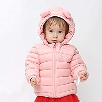Toddlers Padded CECORC Winter Coats for Kids with Hoods Infants Light Puffer Jacket for Baby Boys Girls