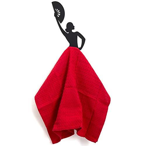Artori Design Wall Hooks – Black Metal Kitchen Towel Holder – Kitchen Towel Rack – Bathroom Decor – Kitchen Appliances…