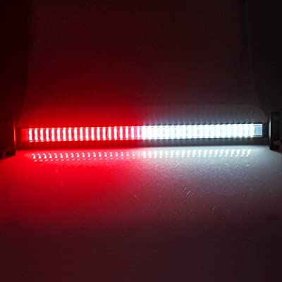 Clidr New Arrival 80 Led Strobe Light Windshield Car Flash Signal Emergency Warning Light Fireman Police Light Bar Beacon Car Truck stroboscopes (red white): Automotive