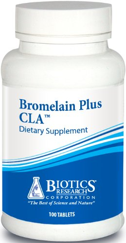 Biotics Research Bromelain Plus CLA™ Digestive Enzymes, Vegetarian, Dairy-Free, Contains Bromelain and Papain, Supports Healthy Inflammation Pathways