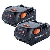 2Pack 18V 6.0Ah Replacement Battery for RIDGID Li-ion 18Volt R840087 R840083 R840086 R840084 AC840085
