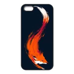 iPhone 5 5s Cell Phone Case Black The Quick Orange-Red Fox cxof