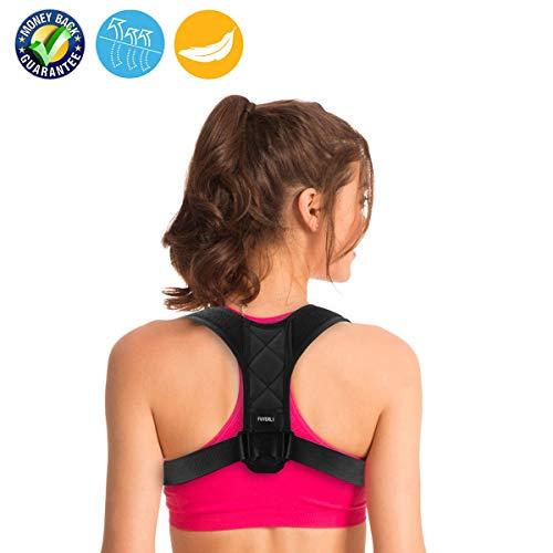 FUYERLI Posture Corrector Men Women, Adjustable Clavicle Brace,Improve Thoracic Kyphosis, Shoulder Support (REG 27- 41)