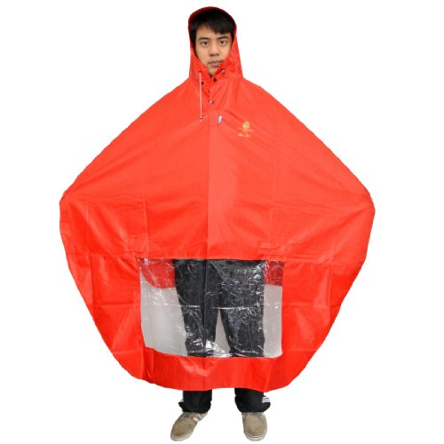 Nava New Red Rain Cape Mobility Scooter Cover Rainproof Coating Raincoat Mirror Slots