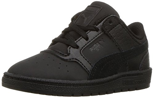 PUMA Kids' Sky II Lo Color Blocked Sneaker, Black Black,7 M US Toddler