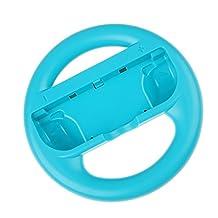 MonkeyJack Joy-Con Wheel Speed for Nintendo Switch Mario Cart Car Racing NES Controller Blue