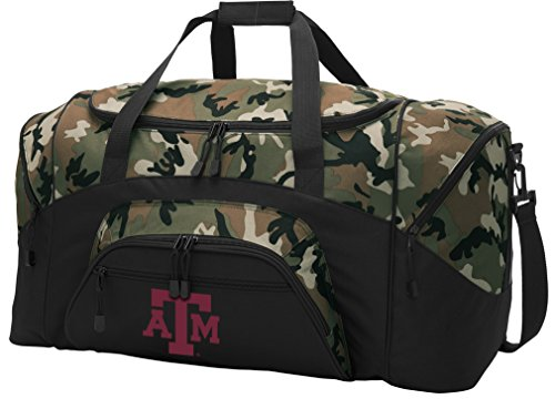 - Broad Bay Large Texas A&M Aggies Duffel Bag CAMO Texas A&M Suitcase Duffle Luggage Gift Idea for Men Man Him!