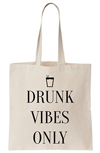 Tote Cocktail Vibes Canvas Drunk Bag Only dqfIwwCY