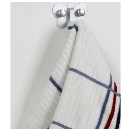 chic SumDirect 2Pcs Aluminum Wall Mounted Butterfly Hook Bathroom Kitchen Hooks for Clothes Towel Hat