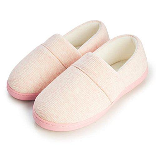 Cybling Dames Indoor Slipper Ademend Comfort Warm Antislip Schoenen Zachte Zool Licht Roze