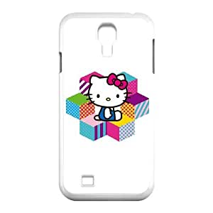 Hello Kitty Color Blocks Samsung Galaxy S4 9500 Cell Phone Case White phone component AU_576655