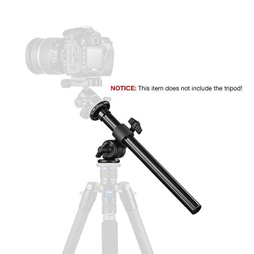 """Tripod Boom Arm - Tycka Tripod Boom (12""""6 Length, Capacity of 5kg), Camera Extension Arm, Fixable, Foldable and Height Adjustable, Tilting Rotation, for Outdoor, Studio, Macro Shooting, Canon Nikon Sony and More"""