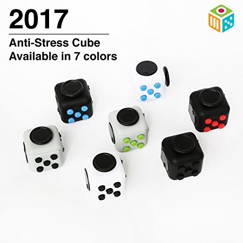 Anti-Stress Cube | Stress reliever brain toys office desk toys and sensory toys for Children and Adults - Premium Quality - White Color - 3