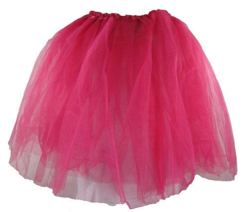 [Teen & Adult Dark Pink Dance or Ballet Tutu] (Cheap Adult Fairy Costumes)