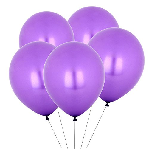 Eshanmu 100 pcs 12 inch Purple Pearl Latex Balloon for Boy Girl Party for Activity Campaign