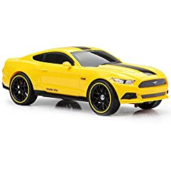 Full-Function 1:16 Remote Control Yellow Mustang Sports Car