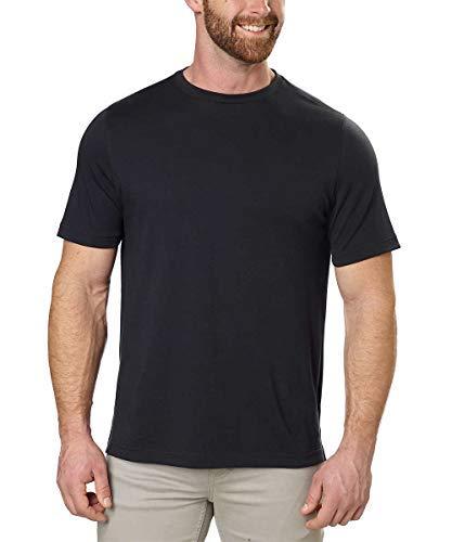 Kirkland Signature Men's Cotton Classic Tee Shirt (Medium, Black)
