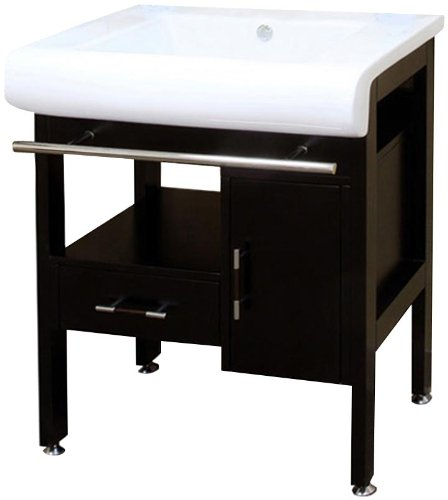 Bellaterra Home 202117B 28-Inch Single Sink Vanity, Wood, Dark Espresso by Bellaterra Home (Image #11)